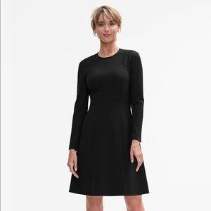 MM.LaFleur Ellis Dress, Black, Ponte Fabric, 0